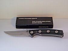 """KNIFE TIGER USA P-209-SL FOLDER, 8"""" OPEN,  440 SS BLADE BELT CLIP, LINER LOCK"""