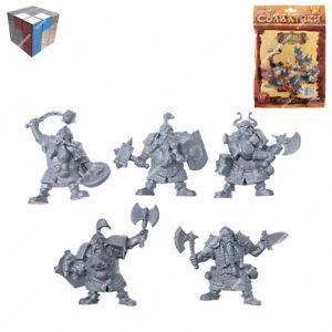 Tehnolog Dwarfs 2 Sets Of 5 Pieces 45 mm Scale Fantasy Battle No Painted