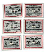 Halstenbek Notgeld 6 Scheine. Los 1555. schoeniger-notgeld