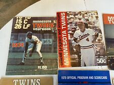 (6) Minnesota Twins Official Program And Scorecard Lot And Yearbook (2) 74-79