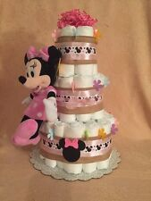 3 Tier Diaper Cake Walt Disney MINNIE MOUSE Baby Shower Centerpiece