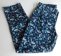 NWT GAP Women's Khaki Pants Slim City Crop Floral Sizes 00 0 6 MSRP$50 Free Ship
