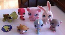 Littlest Pet Shop PIG #87 Turtle #7 Hamster #45 Mouse #192 Rabbit #3 Lot of 7