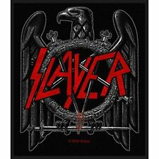 Slayer Black Eagle Woven Iron Sew on Clothing Patch Badge Decal Album Official