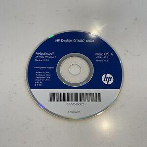 Genuine HP Deskjet D1600 Series Printer Software Driver CD - DISC ONLY Mac/PC