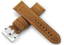 Neu 24mm Echtes Leder Uhrenarmband/Armband Watch Band Strap für Männer Panerai