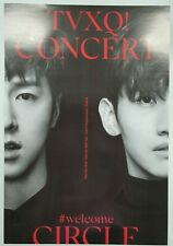 TVXQ! CONCERT - CIRCLE- #welcome Unfolded Official Poster Hard Tube Case