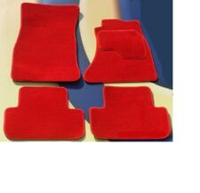BMW F26 X4 2014 on QUALITY TAILORED BRIGHT RED CAR FLOOR MATS + 4 x PADS
