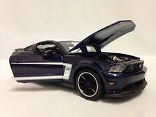 "2012 Ford Mustang Boss 302, 8""  Diecast 1:24 Collectible, Maisto Toy Car, Blue"