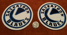2 Official Saskatoon Blades WHL Stitched Shoulder Hockey Crest Patch 4.5 inches
