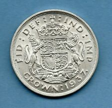 More details for 1937 silver crown coin. king george vi. royal arms reverse. in nice condition.