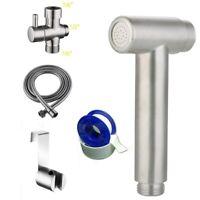 """Handheld Toilet Bidet Sprayer Set Kit Stainless Steel Bidet Douche 7/8""""T-adapter"""