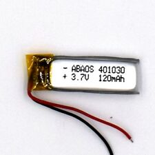 3.7 V 120mAh 401030 Li-Polymer Rechargeable Battery Liion LiPo Cell for GPS MP3