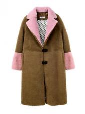 Saks Potts Febbe Sky Shearling Coat BNWT Size 2 - Tan/Pink/White BNWT Size 2