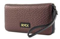 SOCCX Monedero Samari Zipper Wallet Brown