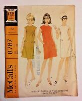 McCall's Shift Dress Vintage Sewing Pattern New Uncut Size 12 #8787