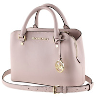 Michael Kors Small Savannah Satchel Crossbody Bag Blossom Pink