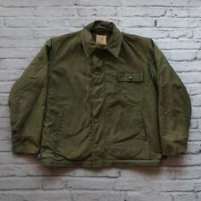 Vintage US Navy USN A-2 Stencil Deck Jacket Size L Military Distressed