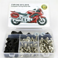 Fit For Yamaha FJR1300 2013-2019 Complete Fairing Bolts Body Screws Kit Silver