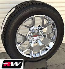 """2014 GMC Sierra Wheels Tires Chrome Rims Replica 20"""" inch 20x9"""" fit 2007-2018"""