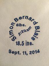 Personalized Embroidery Baby Blanket Stats