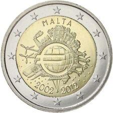 2€ Malte 2012 10 ans de l'euro UNC