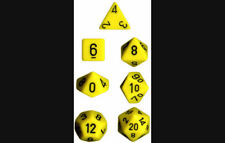 DUNGEONS & DRAGONS YELLOW W/ BLACK DICE SET CHX25402