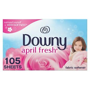 Downy Dryer Sheets Laundry Fabric Softener April Fresh Scent 105 Sheet Count