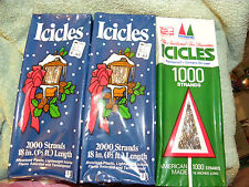 Mystic/Wadding Co Icicles Tinsel-New-Lot of 3 Boxes 18 Inches-5000 Strands-Eb25