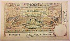 Biljet, België, 100 Francs, 1920, 1920-06-21 Belgium Banknote