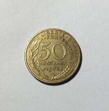 50 centimes LAGRIFFOUL 1963 col 4 plis Num9
