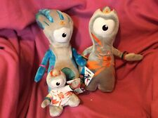 official London Olympics 2012 3 soft toys Wenlock and Mandeville