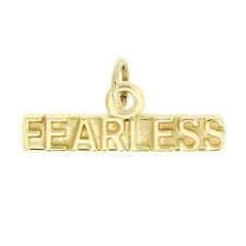 14Kt Yellow Gold Polished Word Fearless Charm Pendant