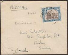 George VI (1936-1952) Cover Adeni Stamps (Pre-1967)