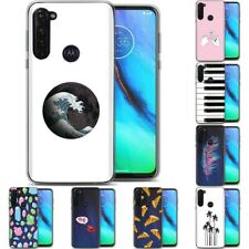 TPU Phone Case Cover for Motorola G Stylus,G7 Play,Power,Plus,Design Cute Print