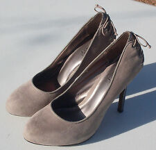 NY & C 58 LEX Gray Suede Leather Heel Pump Shoes Women's Size 6.5M (EUC)