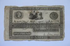 More details for provincial bank of ireland one £1 pound banknote a49929 nov 1st 1851 repaired!