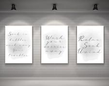 Bathroom Prints Relax Soak Unwind Set of 3 Home decor Print A4 A3