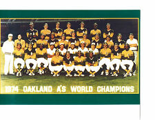 1974 WORLD CHAMPIONS OAKLAND ATHLETICS A'S  8X10 TEAM PHOTO BASEBALL