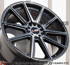 18X8.5 +40 F1R F27 5X112 GUN METAL WHEELS Fits Vw Rabbit Cc Golf Gti Tdi Eos Jet
