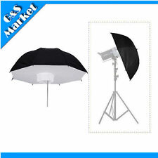 "Photo Studio Lighting Umbrella Softbox 101cm/40""  Black&Silver Reflective"