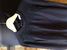 Haut blouse Paul et Joe Sister T34 Noir coton et lin léger et dentelle Co marant
