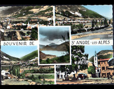 SAINT-ANDRE-les-ALPES (04) VILLAS , HOTEL-RESTAURANT & EGISE Cliché période 1950