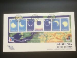ALDERNEY 1999 TOTAL ECLIPSE OF THE SUN M/S FDC CAT £10