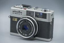 Excellent Minolta Hi – Matic F 35mm Rangefinder Camera Rokkor 1:2,7 f=38mm