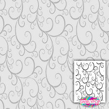 SWIRLYPOP SCROLL WALL STENCIL CRAFT TEMPLATE 9