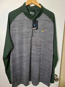 1 NWT LEVELWEAR MEN'S PULLOVER, SIZE: 2X-LARGE, COLOR: GREEN/GRAY HEATHER (J65)