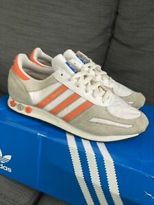 Adidas LA trainer Mens UK size 9.5 White/orange