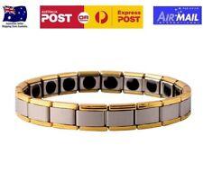 Tourmaline Energy Bracelet Far Infrared Negative Ion Germanium Magnetic Gold 20