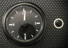 High Quality Car Analogue Clock Black Face with Black Bezel 12v 24v